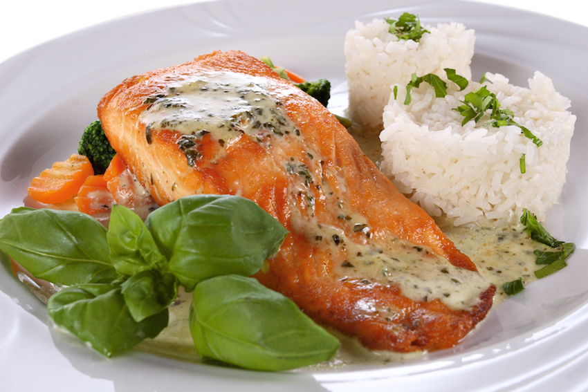 Aromatic chilli salmon