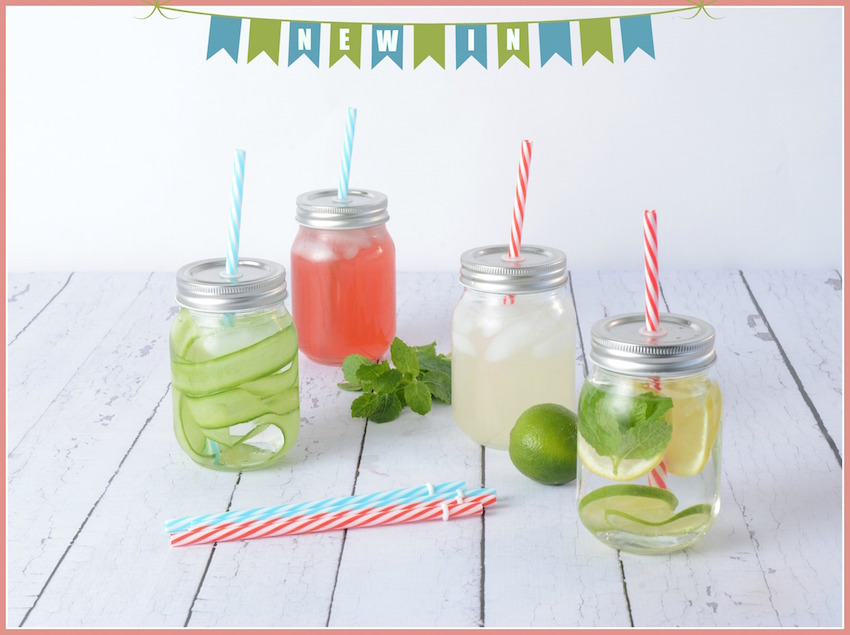 New drinking jars now in (plus strawberry limeade recipe)