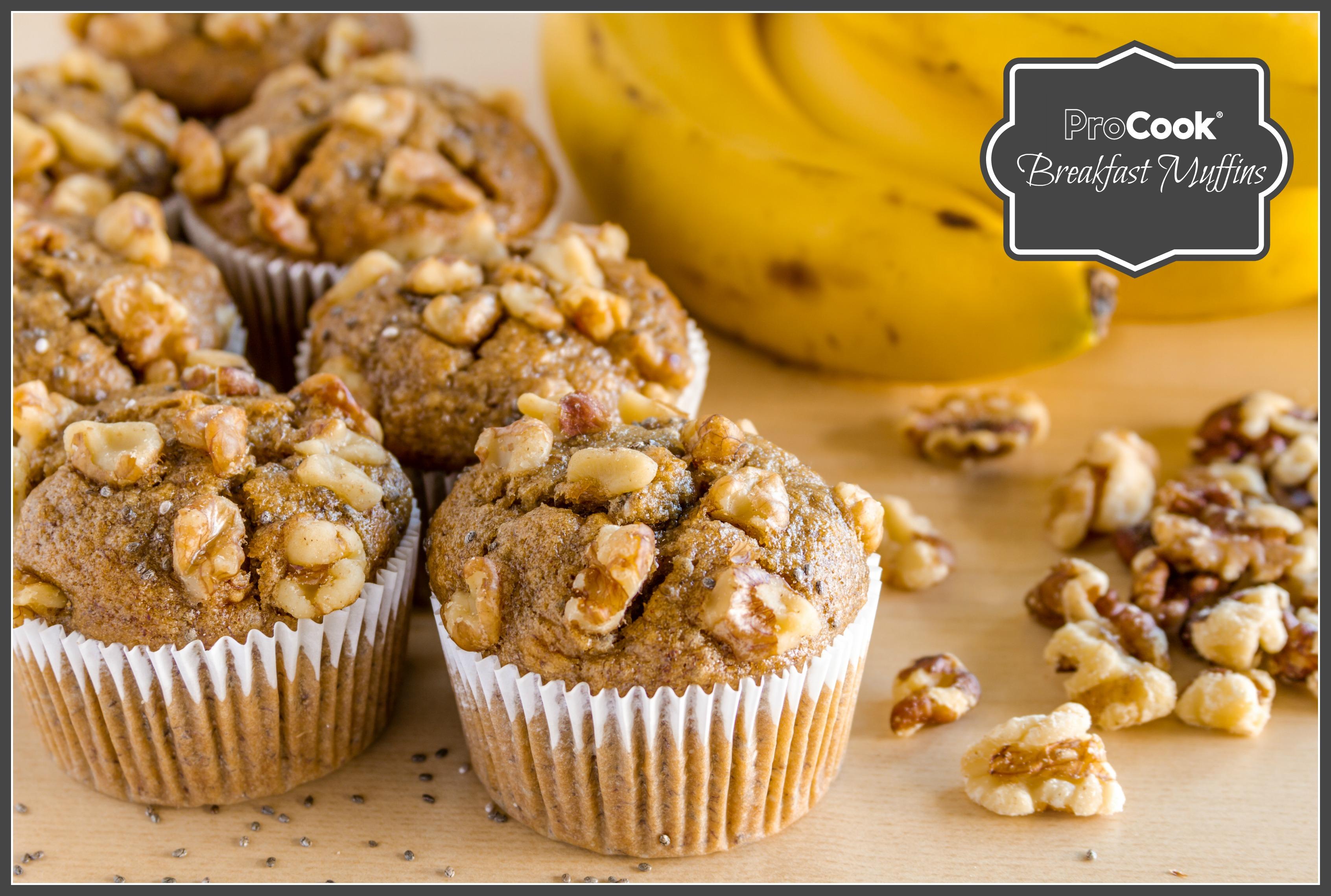 Banana & Walnut Breakfast Muffins