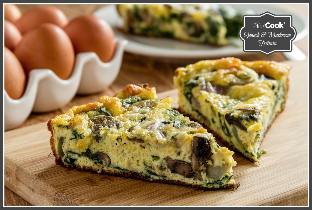 Spinach & Mushroom Frittata
