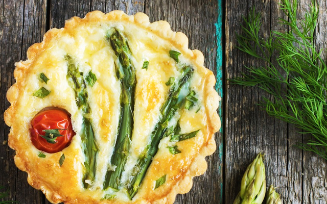 ProCook Asparagus and Cherry Tomato Tart Recipe