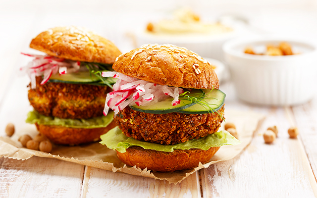 Chickpea and Coriander Burger