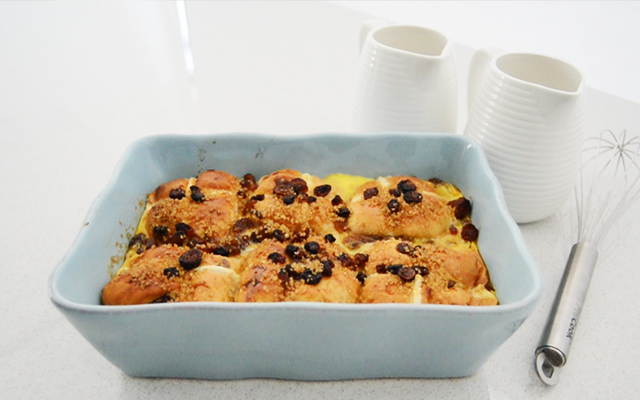 ProCook Hot Cross Bread and Butter Pudding Recipe