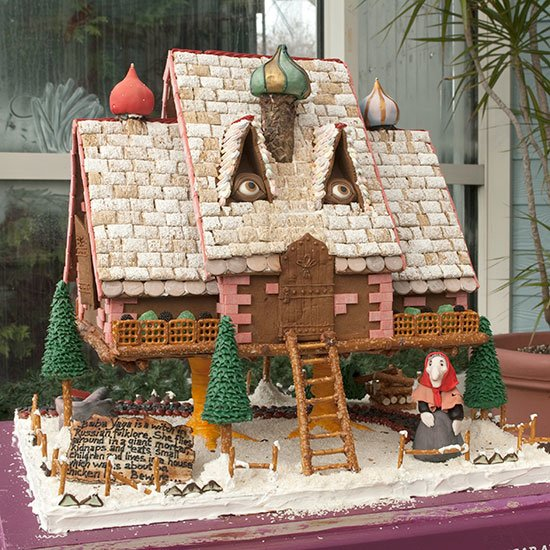 Baba Yaga Gingerbread House for OTT Christmas Dishes