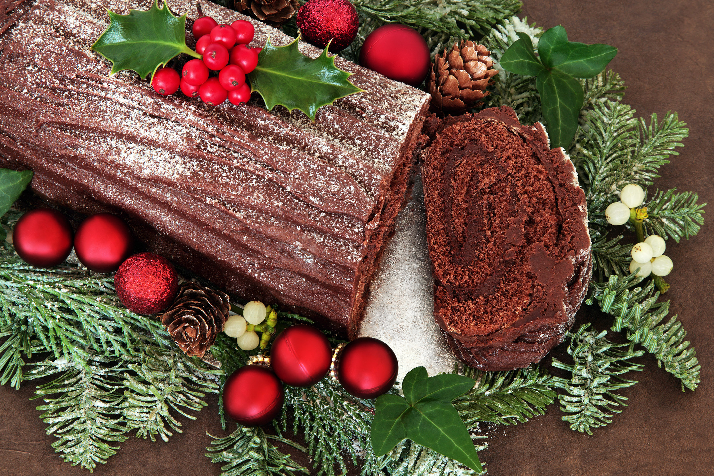 Chocolate Yule Log for OTT Christmas Dishes