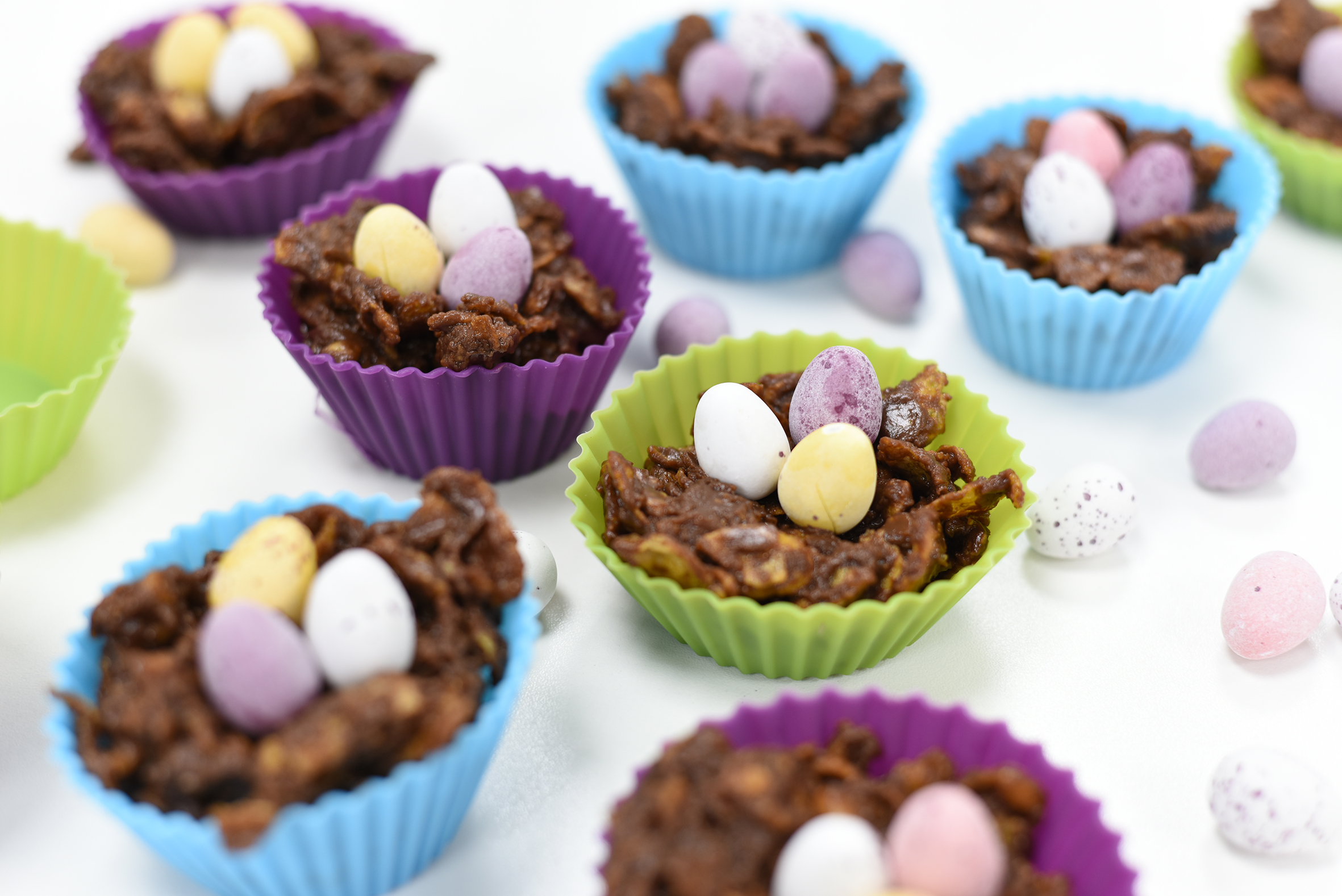chocolate easter egg nest cakes home baking children kids celebration season holiday lent