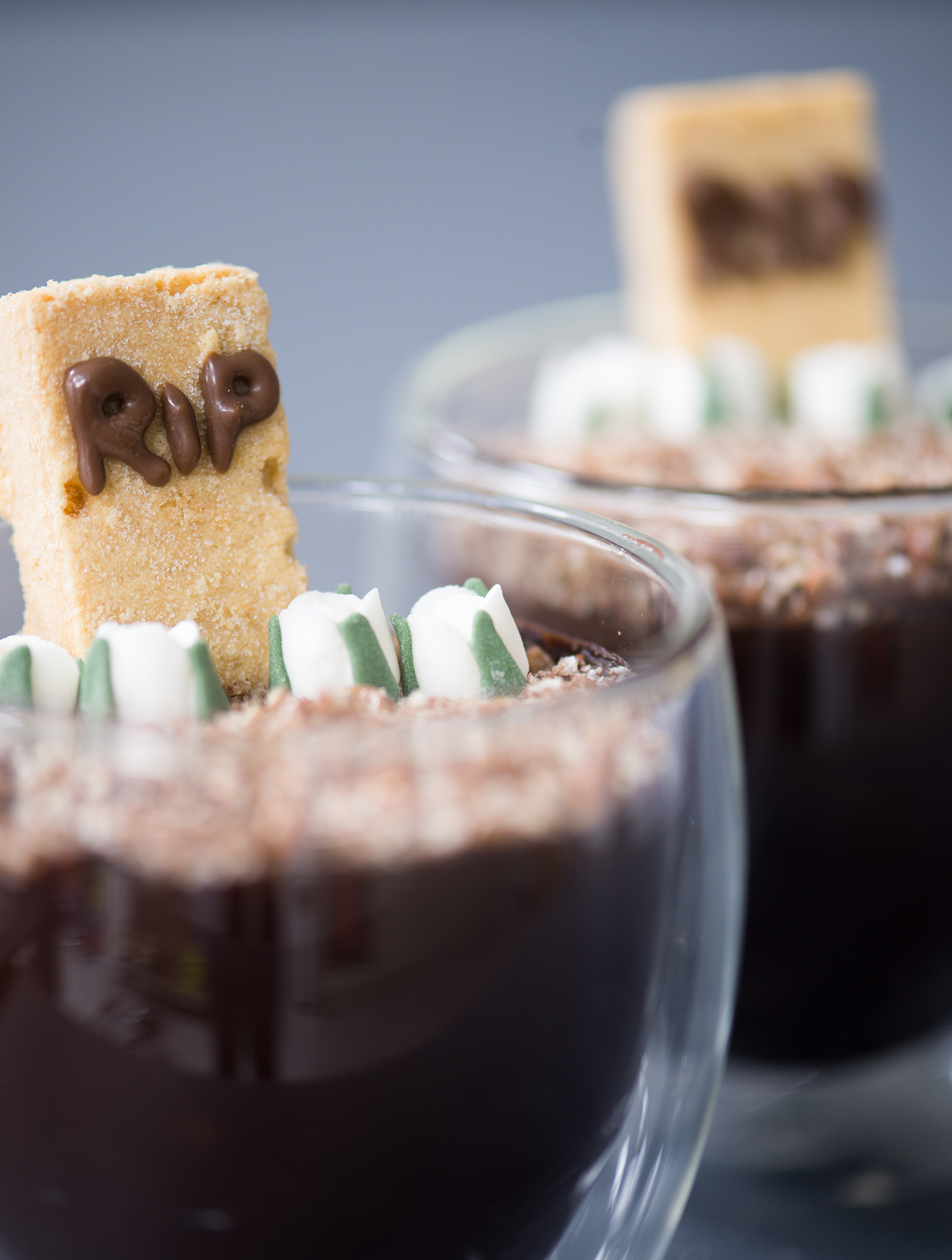 Halloween Vegan Chocolate Mousse Graveyard Recipe