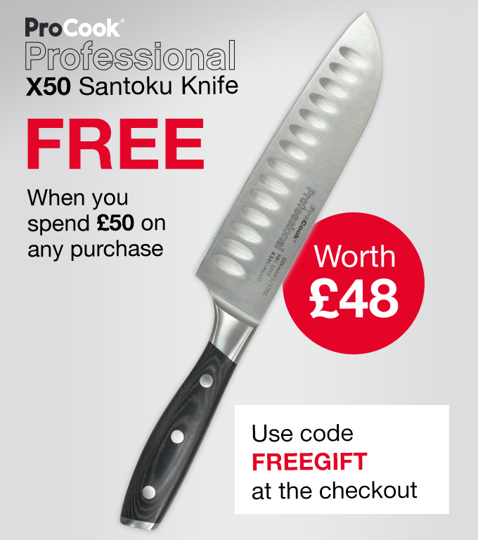 Free ProCook Santoku Knife with orders over £50