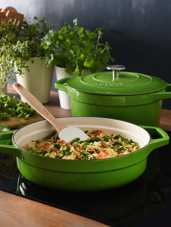 New green cast iron cookware launches at ProCook