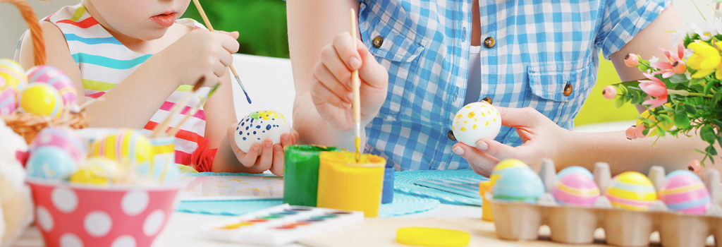 Celebrating Easter in a lockdown with ProCook - top tip, painting eggs is a great way to keep little ones entertained!