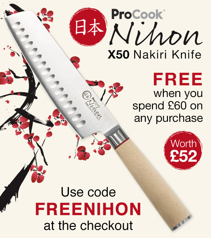Free ProCook Nihon X50 Nakiri Knife Offer
