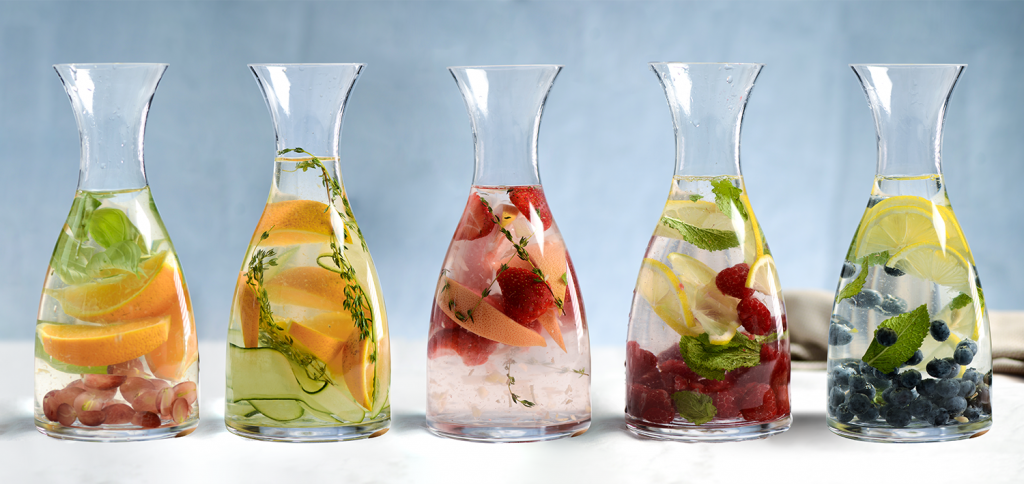 Selection of ProCook's fruit infusions in ProCook Carafe