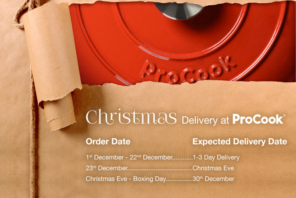 Christmas delivery dates information at ProCook.