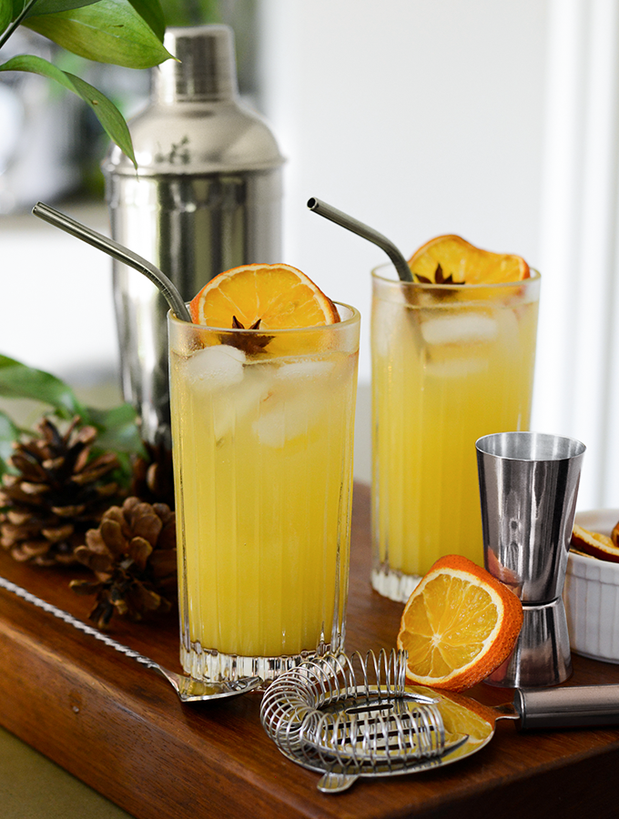 Orange Mule cocktail served in ProCook glassware for Christmas