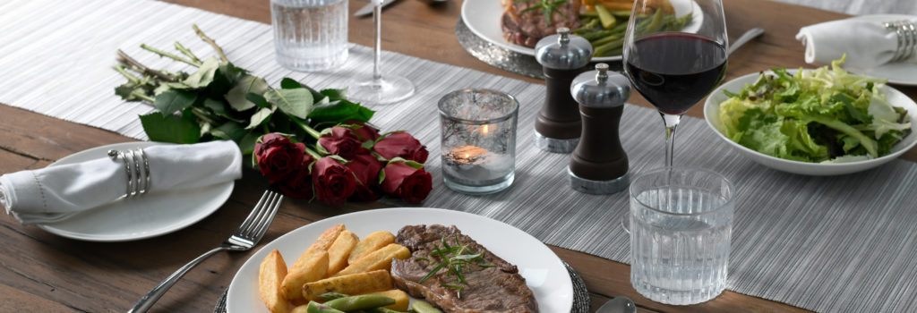 Valentine's table setting using ProCook tableware and kitchen accessories