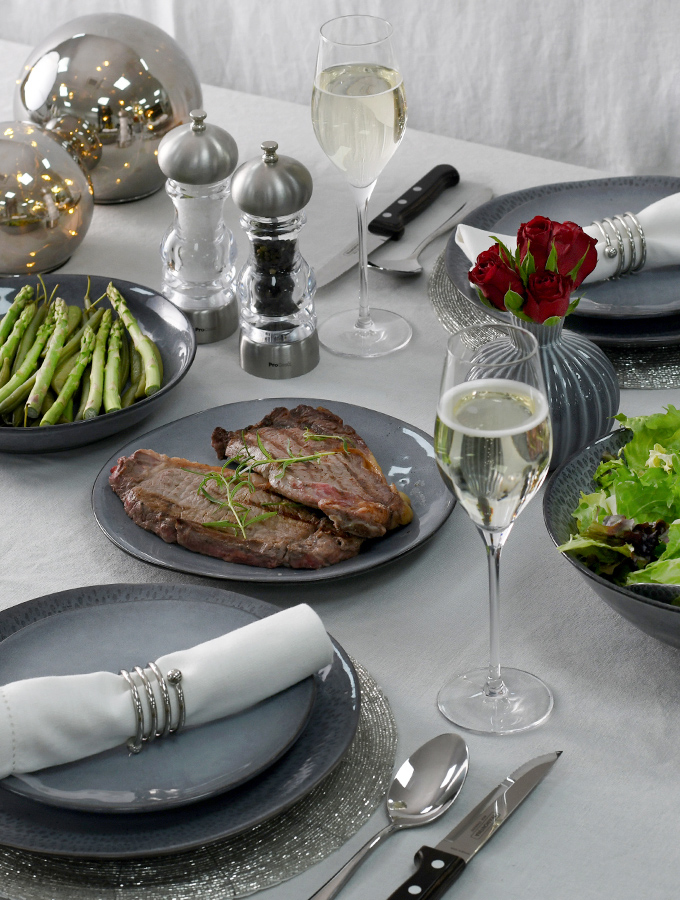ProCook table setting for Valentine's Day