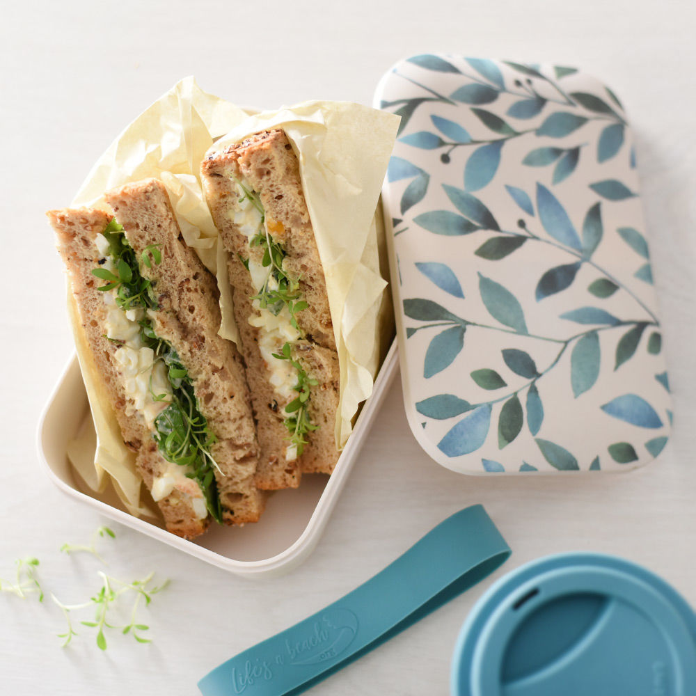 Picnic sandwiches in a ProCook Bamboo Lunchbox