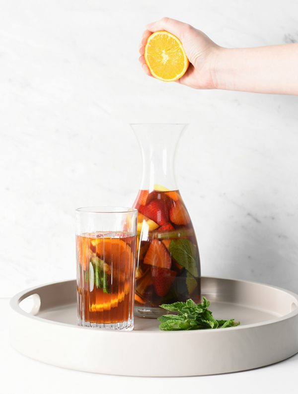 Pimms Iced Teasummer cocktail served in a ProCook Carafe