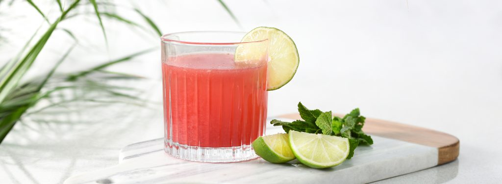 Watermelon Sangria cocktail served in ProCook Ribbed Glass